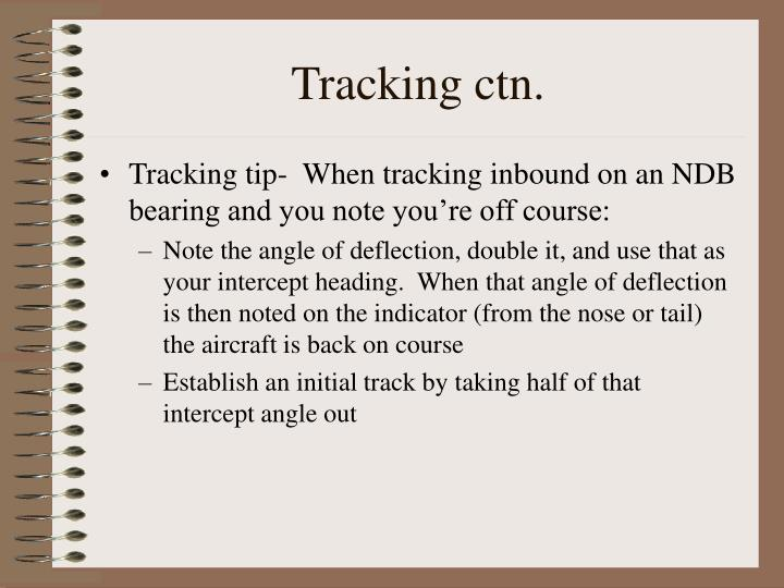 Tracking ctn.