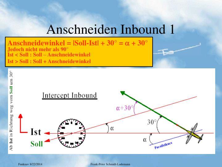 Anschneiden Inbound 1