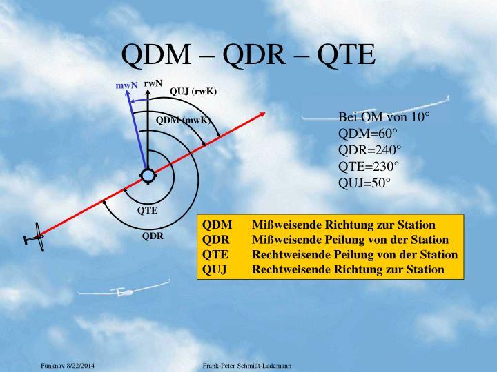 QDM – QDR – QTE