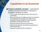 capabilities to be examined2