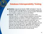 database interoperability testing