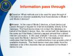 information pass through
