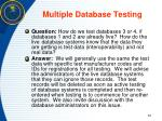 multiple database testing
