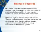 retention of records