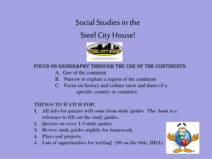 Social Studies in the