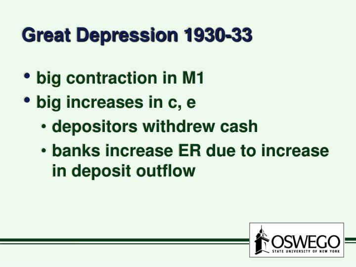 Great Depression 1930-33