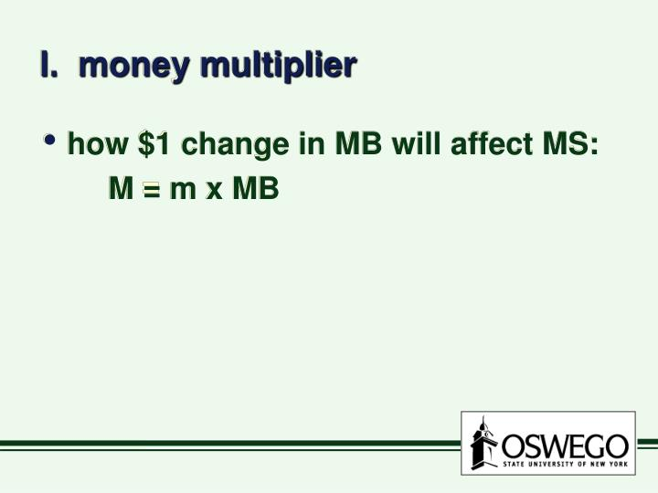 I.  money multiplier
