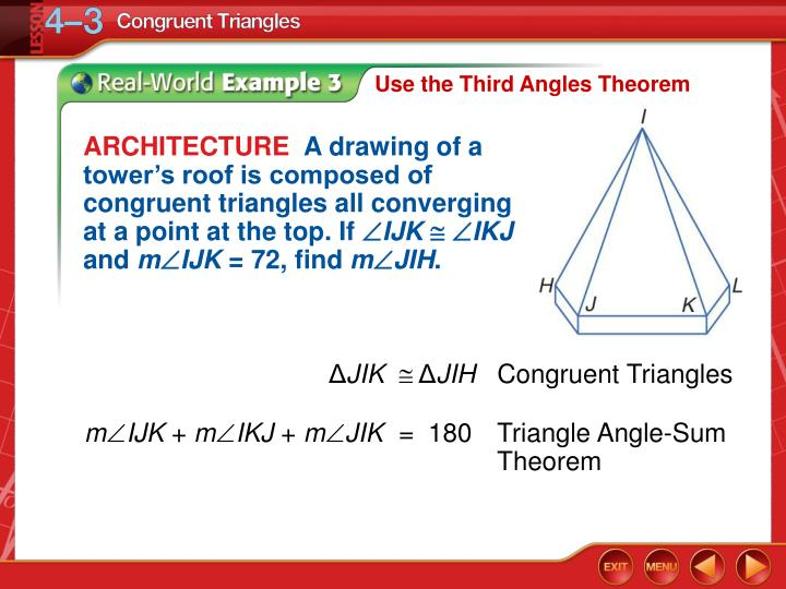 Use the Third Angles Theorem