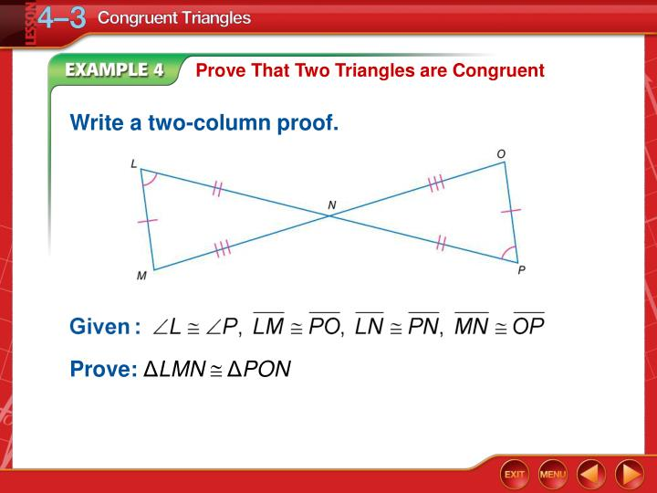 Prove That Two Triangles are Congruent
