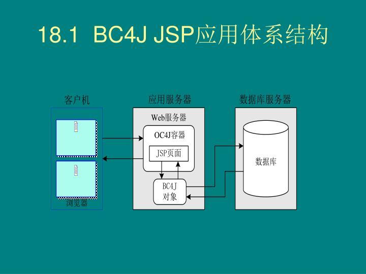 18.1  BC4J JSP