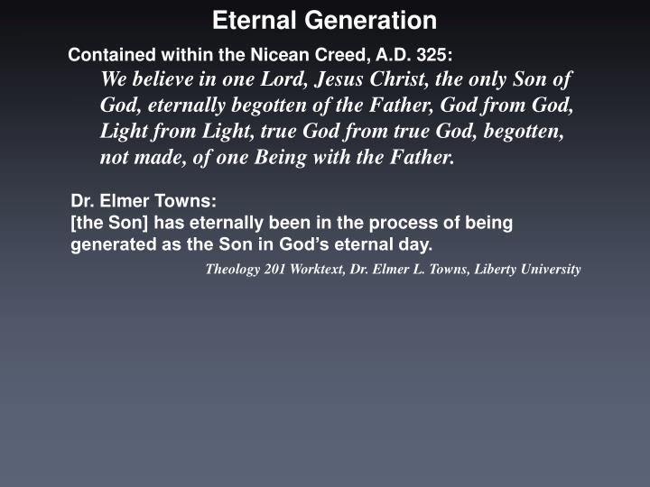 Eternal Generation