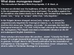 what does monogenes mean1