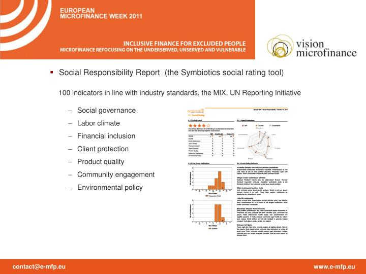 Social Responsibility Report  (the