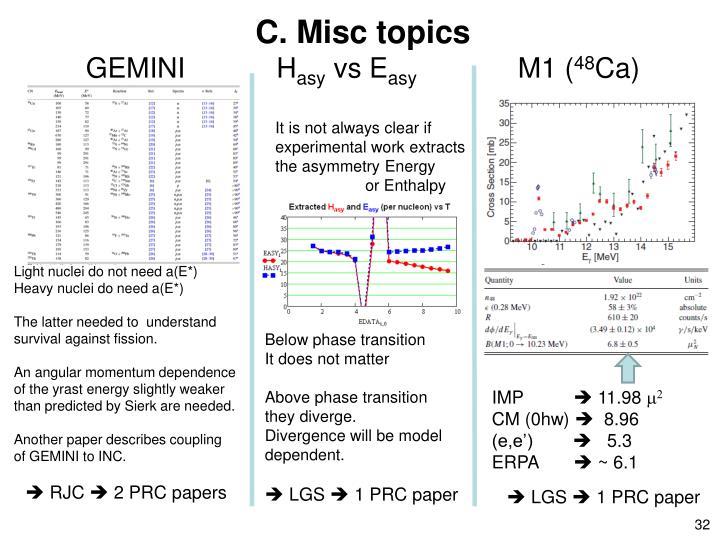 C. Misc topics