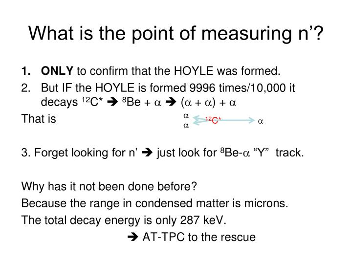 What is the point of measuring n'?