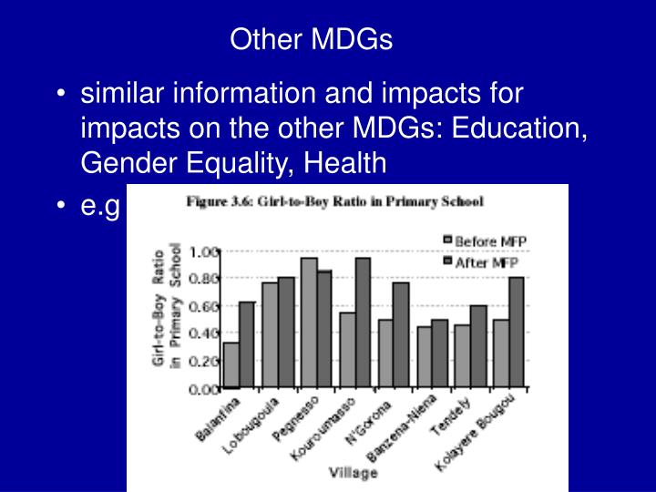 Other MDGs
