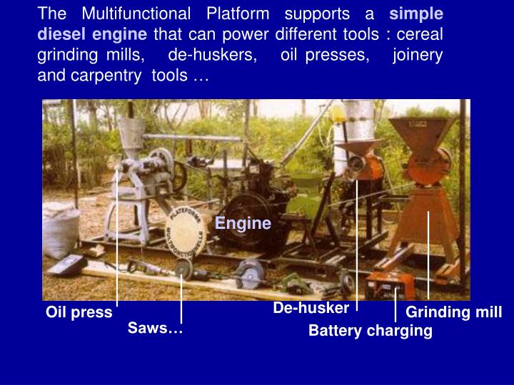 The Multifunctional Platform supports a