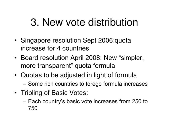 3. New vote distribution