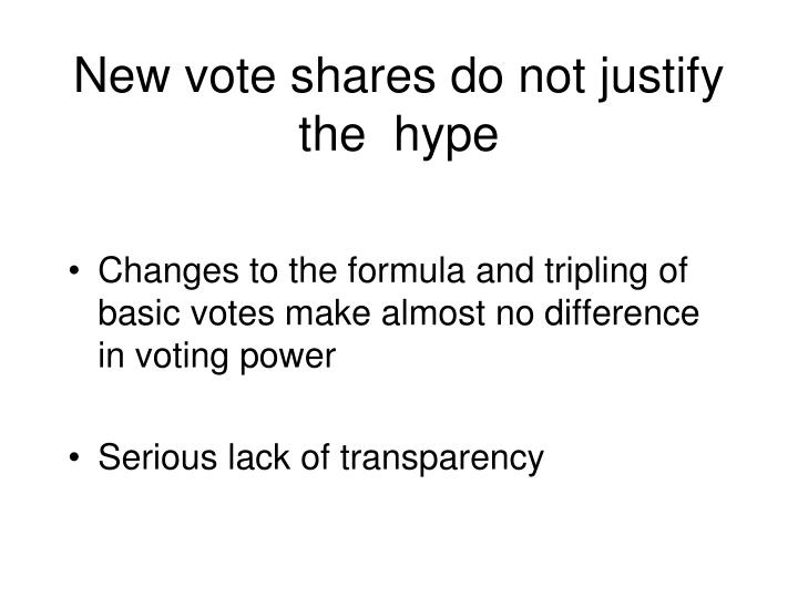 New vote shares do not justify the  hype