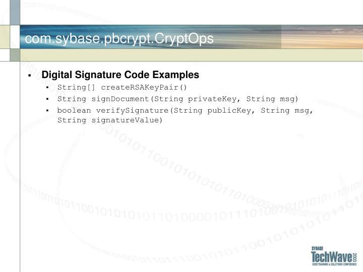 com.sybase.pbcrypt.CryptOps