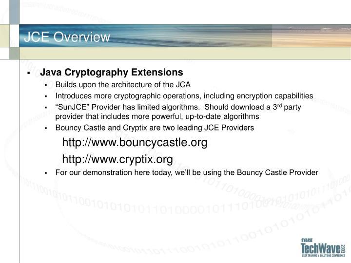 JCE Overview