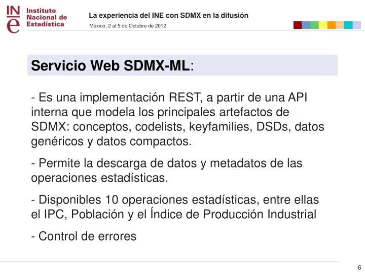 Servicio Web SDMX-ML