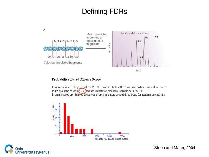 Defining FDRs