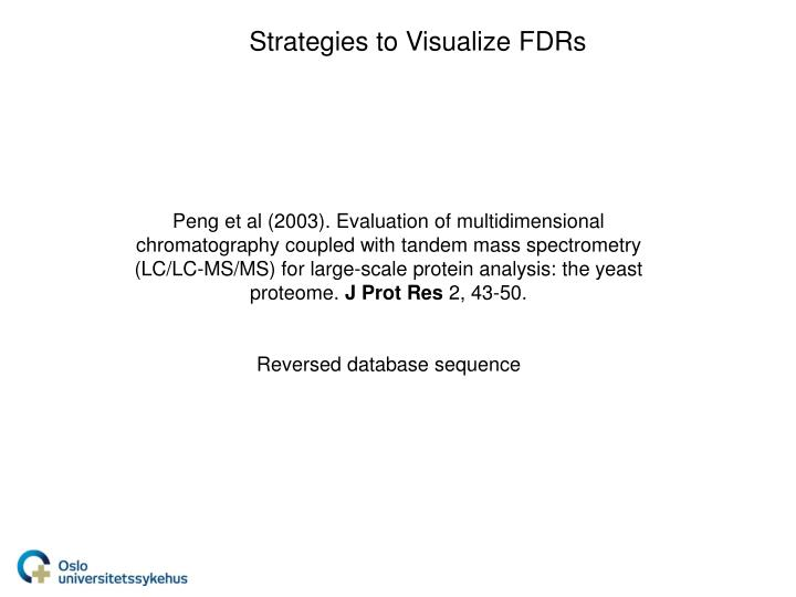 Strategies to Visualize FDRs