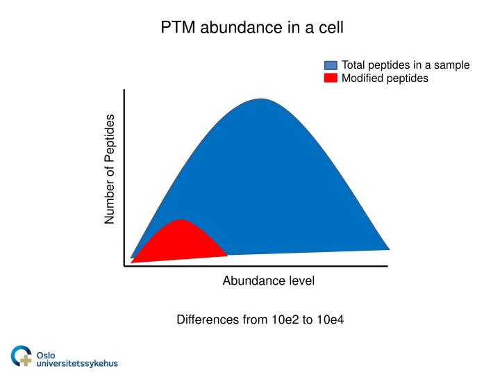 PTM abundance in a cell