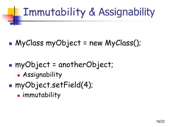 Immutability &
