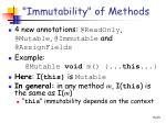 immutability of methods