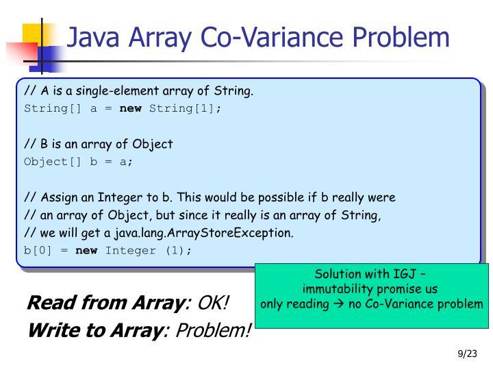 Java Array Co-Variance Problem