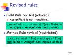 revised rules