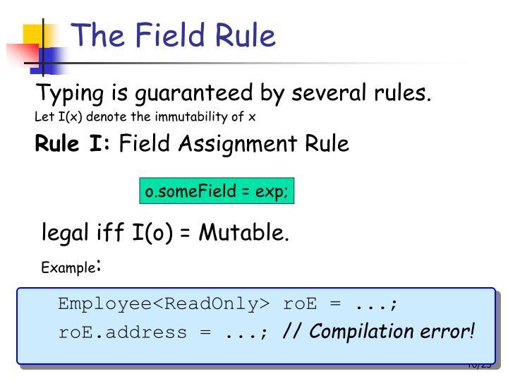 The Field Rule