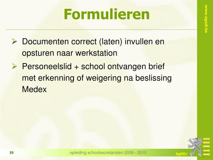 Formulieren