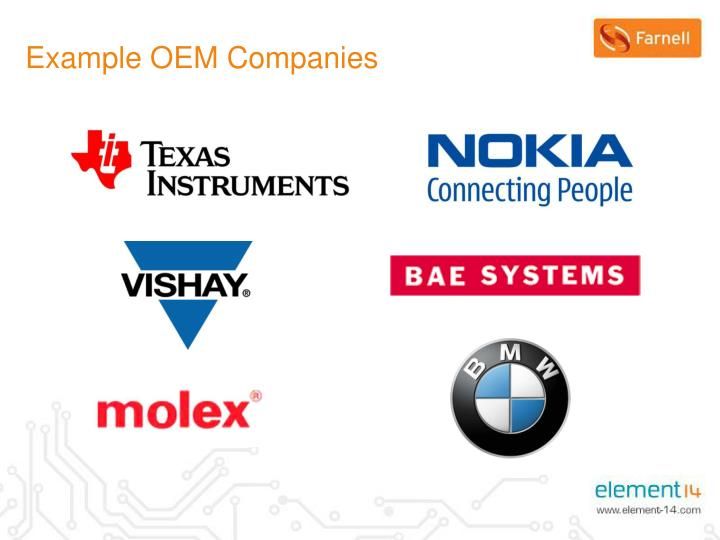 Example OEM Companies