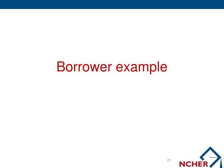 Borrower example