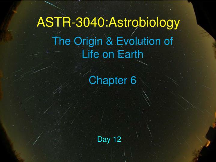 ASTR-3040:Astrobiology