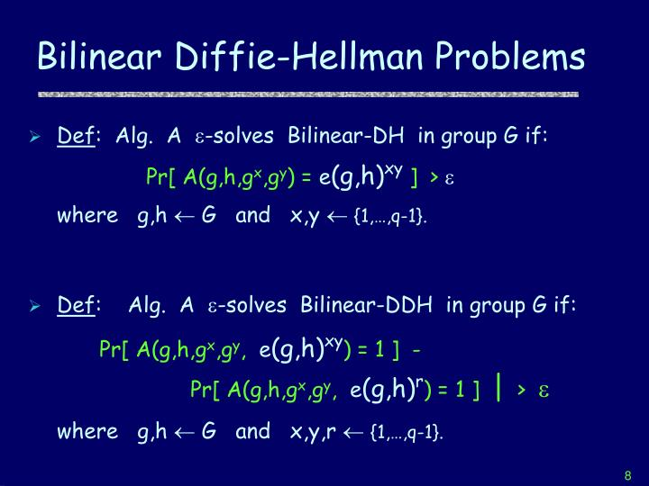 Bilinear Diffie-Hellman Problems