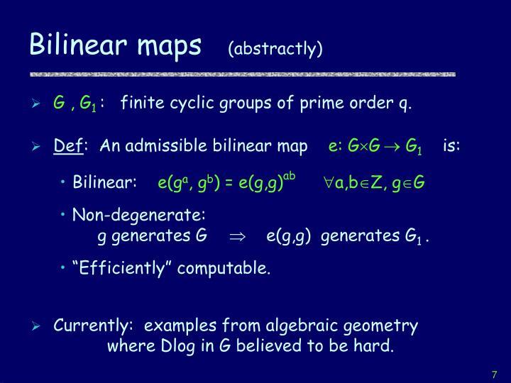 Bilinear maps