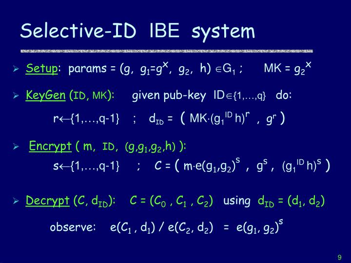 Selective-ID