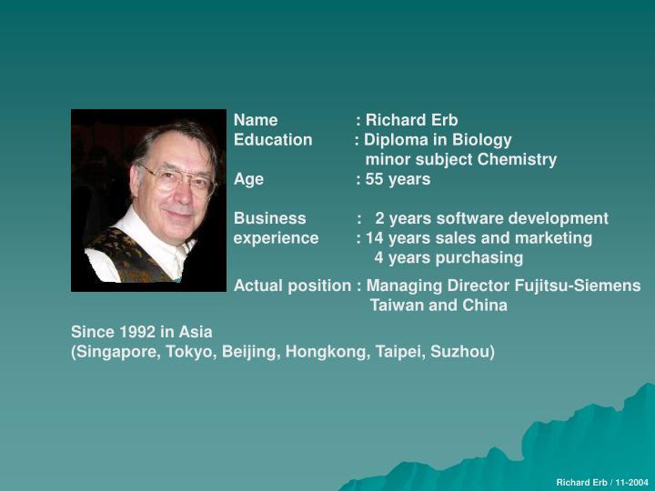 Name                 : Richard Erb
