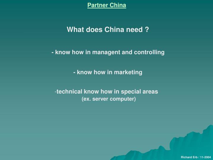 Partner China