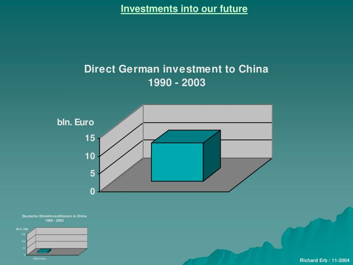 Investments into our future