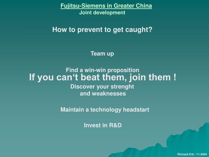 Fujitsu-Siemens in Greater China