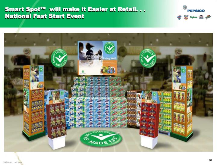 Smart Spot™  will make it Easier at Retail. . . National Fast Start Event