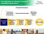 the big idea in lifestyle change individual motivation