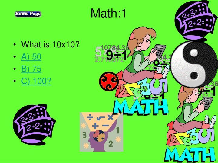 Math:1
