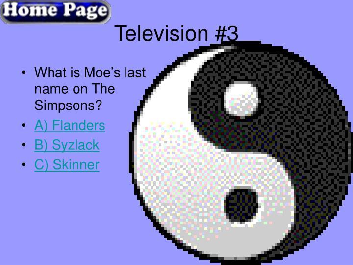 Television #3