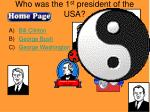 who was the 1 st president of the usa